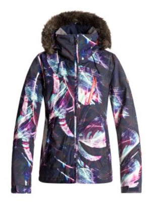 Roxy Jet Ski Prem Ladies Ski Jacket Peacoat Seamless Feather