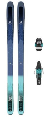 Salomon QST LUX 92 Dark Blue/Green with Bindings 169cm