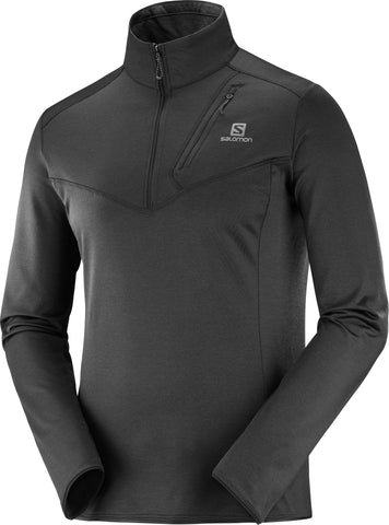 Salomon Discovery Men's Half Zip Midlayer in Black