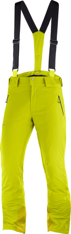 Salomon Iceglory Men's Ski Pant in Citronella
