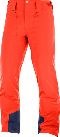 Salomon Icemania Men's Ski Pant in Cherry Tomato