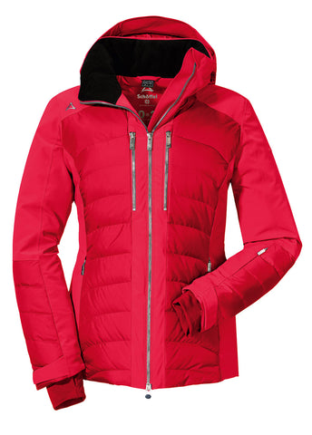 Schoffel Maribor 3 Womens Down Ski Jacket in Racing Red