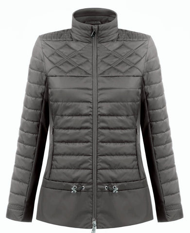Poivre Blanc 1250-WO Hybrid Quilted Jacket in Soba Brown