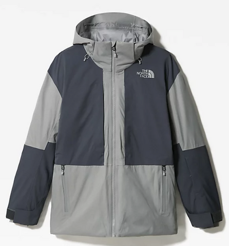 The North Face Men's Chakal Snow Jacket in Meld Grey Heather with Vandis Grey Style no. 4QXK
