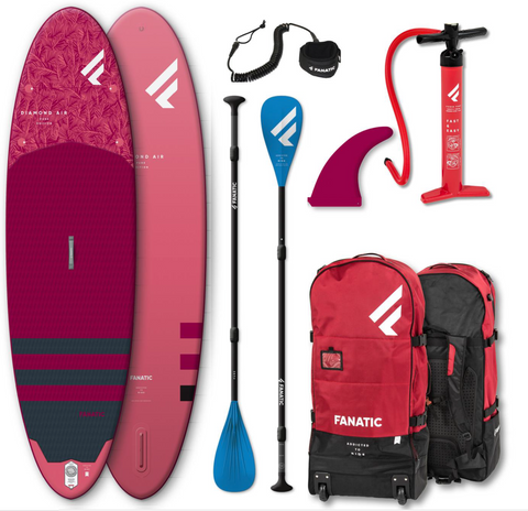"Fanatic Diamond Air Inflatable SUP Board in 9'8"" Pure Package"