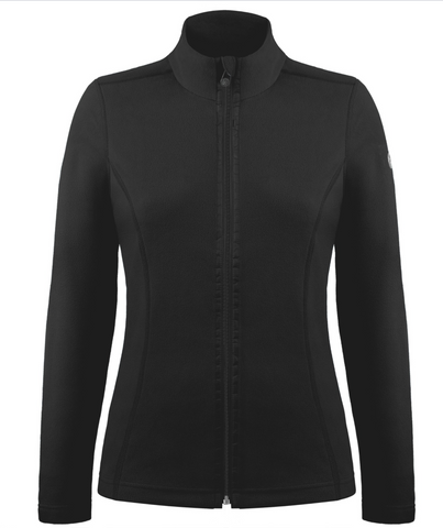 Poivre Blanc Women's 1500 Fleece Jacket in Black
