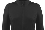 Poivre Blanc Women's 1500 Fleece Jacket in Black close up