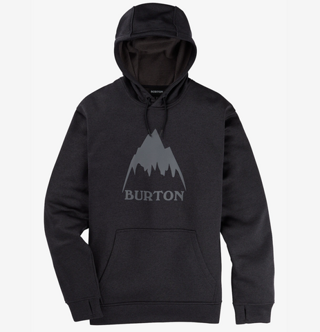 Burton Oak Pullover Men's Hoodie in True Black Heather