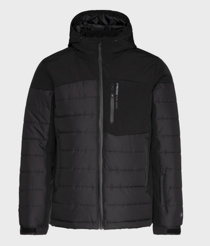 Protest Mount 20 Puffer ski jacket in True Black