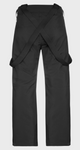 Protest Owens Ski trousers with Suspenders in True Black back view