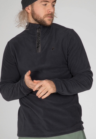 Protest Perfecto Fleece Jumper in Asphalt Grey style 3792800