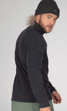 Protest Perfecto Fleece Jumper in Asphalt Grey style 3792800 back