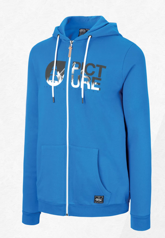 Picture Organic Clothing Men's Basement Zip Hoodie in Blue
