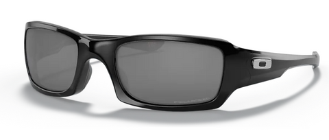 Oakley Fives Squared Polished Black with Black Iridium Polarized oo9238-06