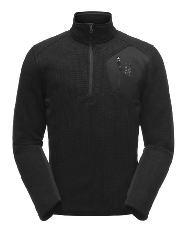 Spyder Bandit Half Zip in Black