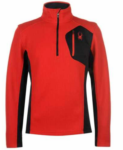 Spyder Bandit Fleece Half Zip in Volcano Red