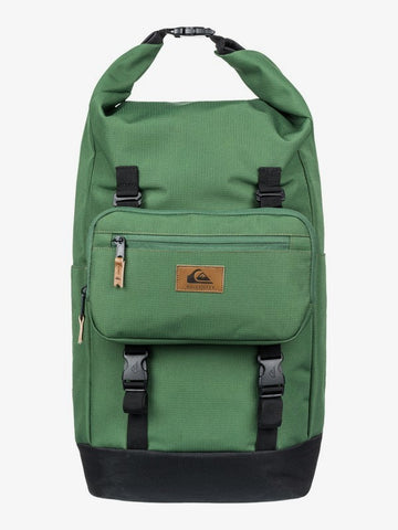 Quiksilver Sea Stash Plus 35L Large Wet/Dry Roll-Top Surf Backpack in Greener Pastures