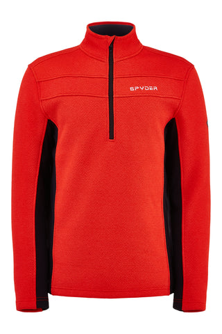 Spyder Encore Half Zip in Volcano Red