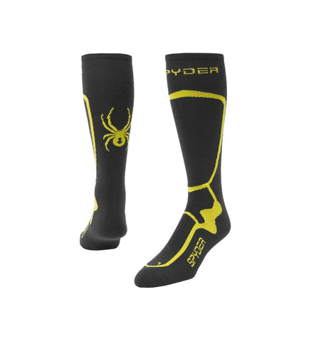 Spyder Pro Liner Mens Ski Sock in Ebony