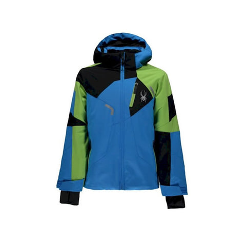Spyder Quest Leader Kids Ski Jacket FRB/FSH/BLK