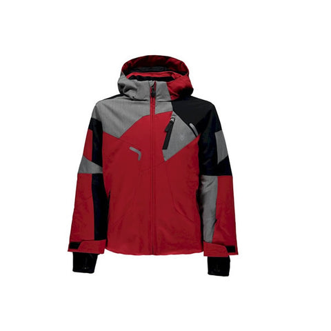 Spyder Quest Leader Kids Ski Jacket in red and black