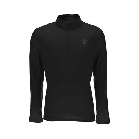 Spyder Charger Mens Thermastretch T-Neck Blk/Blk/Blk