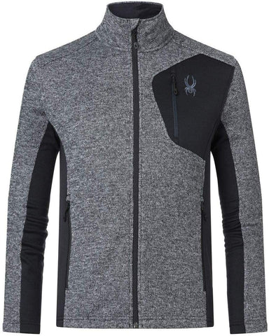 Spyder Bandit Full Zip Ski Jacket in Black Alloy