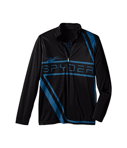 Spyder Bugcentric Boys T-Neck Black/Concept Blue