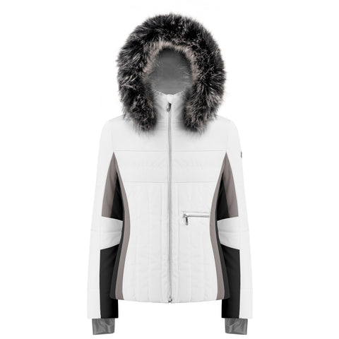 Poivre Blanc Ski Jacket W19 1002 WO/A in White/multi