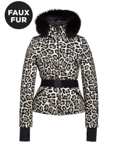 Goldbergh WILD Womens Ski Jacke Faux Fur in Leopard