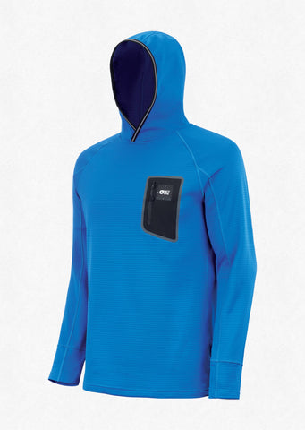 Picture Organic Clothing Men's Bake Grid Fleece Hoodie in Picture Blue