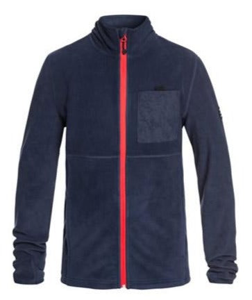 Quiksilver Butter Technical Zip-Up Fleece Boys 8-16 Dress Blues