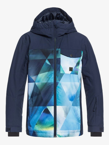 Quiksilver Mission Block Snow Jacket for Boys L G S T Uni