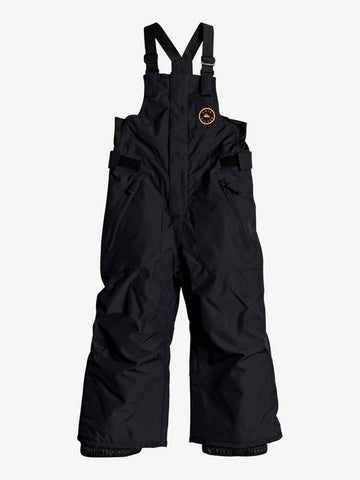 Quiksilver Boys Boogie Snow Pant in True Black Front
