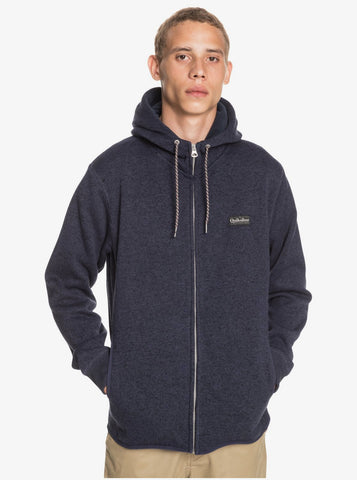 Quiksilver Keller Zip-Up Polar Fleece Hoodie for Men in Parisian Night