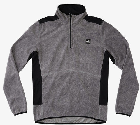 Quiksilver Aker Half-Zip Polar Fleece for Men in Heather Grey