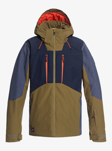 Quiksilver Mission Plus Snow Jacket for Men in Military Olive
