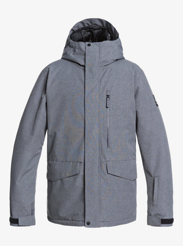 Quiksilver Mission Solid Snow Jacket for Men in Heather Grey