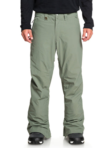 Quiksilver Estates Mens Ski Pants in Agave Green