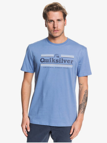 Quiksilver Get Buzzy Short Sleeve T-Shirt in Quiet Harbour Blue