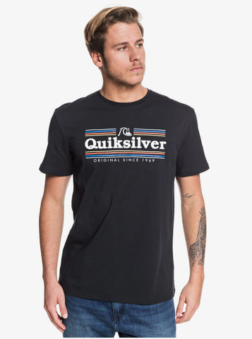 Quiksilver Get Buzzy Short Sleeve T-Shirt in Black
