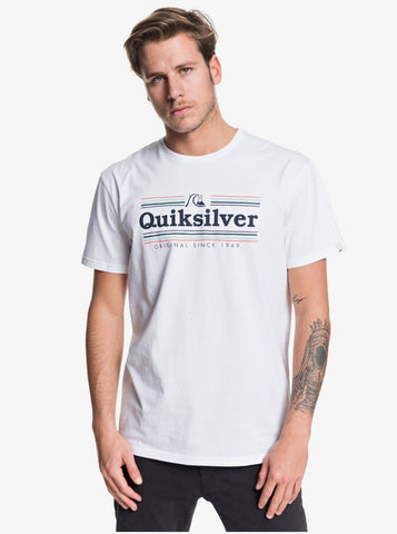 Quiksilver Get Buzzy Short Sleeve T-Shirt in White
