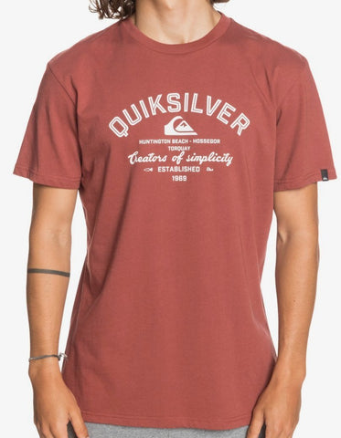 Quiksilver Men's Creators of Simplicity T shirt in Henna