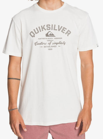 Quiksilver Men's Creators of Simplicity T shirt in Snow White