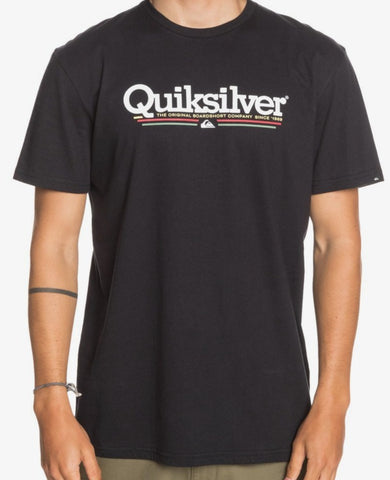 Quiksilver Tropical Lines T-Shirt for Men in Black style: EQYZT06060-KVJ0