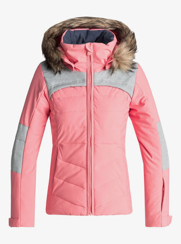 The Roxy Bamba - Snow Jacket for Girls in Shell Pink Style: ERGTJ03050