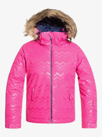 Roxy Jet Ski Solid Girls Jacket in Beetroot Pink