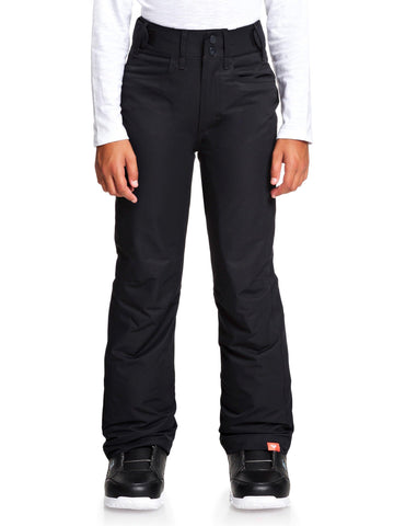Roxy Backyard Girls Ski Pant in True Black