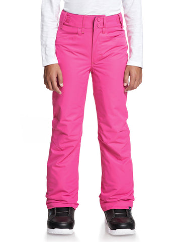 Roxy Backyard Girls Ski Pant in Beetroot Pink