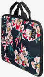 Roxy Lets Travel Travel Folder in Anthracite Wonder Garden Style: ERJBL03215-XKMR side view